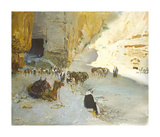 Petra Premium Giclee Print by Terence Cuneo