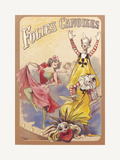 Gaiety Girls, Folies Canoises Premium Giclee Print by  The Vintage Collection