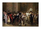 The General Post Office, One Minute to Six: 1860 Premium Giclee Print by George Elgar Hicks