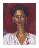 Embroidered Blouse Premium Giclee Print by Boscoe Holder