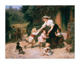 The Dancing Bear Premium Giclée-tryk af Frederick Morgan