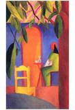 August Macke (Turkish Café (II)) Art Poster Print Poster