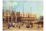 Canaletto (II) (La Piazza San Marco) Art Poster Print Poster