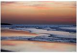 Beach (Sunset Over Calm Water) Art Poster Print Fotografía