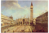 Canaletto (II) (Piazza San Marco) Art Poster Print Poster