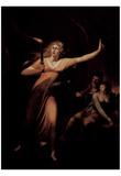 Johann Heinrich Fussli (The schlafwandelnde Lady Macbeth) Art Poster Print Poster