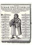 Johann Meder (Written memorial for Martin Luther) Art Poster Print Plakater