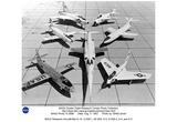 NASA (NACA Research Aircraft, Bell X-1A, D-588-1, XF-92A, X-5,D-588-2,X-4, X-3, 1953) Art Poster Pr Photo