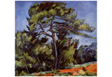 Paul Cezanne (The large pine) Art Poster Print Posters