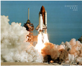 NASA Space Shuttle Blasting Off Early Morning Art Print Poster Foto