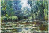 Claude Monet Water-Lilies in Monet's Garden Art Print Poster Posters