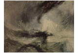Joseph Mallord William Turner (Snow storm before the harbor entrance) Art Poster Print Pôsters