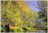 Claude Monet A Bend of the Epte Giverny Art Print Poster Pósters