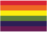 Gay Pride Rainbow Flag Print Poster Print
