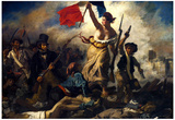 Eugene Ferdinand Victor Delacroix (Liberty Leading the People) Art Poster Print Plakater