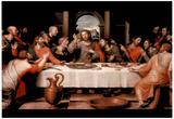 Last Supper religious Jesus Christ Art Print POSTER Billeder