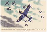 British Spitfires Figher Planes WWII War Propaganda Art Print Poster Poster