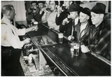 Men Drinking at Bar 1943 Archival Photo Poster Print Plakater