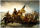 Emanuel Leutze Washington Crossing the Delaware River Art Print Poster Posters
