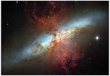 Happy Sweet Sixteen Hubble Telescope Starburst Galaxy M82 Space Photo Art Poster Print Posters