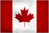 Canada Flag Distressed Art Print Poster Prints