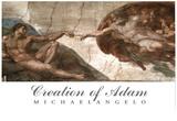 Creation of Adam (Full) Michaelangelo ART PRINT POSTER Posters