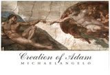 Creation of Adam (Full) Michaelangelo ART PRINT POSTER Poster