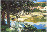 Claude Monet The River at Bennecourt Art Print Poster Plakater