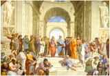 Raphael (The School of Athens) Restored Art Poster Print Plakater
