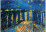 Vincent Van Gogh Starry Night Over the Rhone Art Print Poster Posters