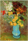 Vincent Van Gogh Vase with Daisies and Anemones Art Print Poster Plakater