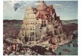 Pieter Brueghel (Tower of Babel) Art Poster Print Prints