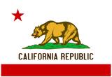 California State Flag Poster Print Kunstdrucke