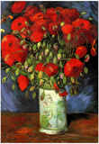 Vincent Van Gogh Vase with Red Poppies Art Print Poster Posters
