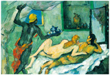 Paul Cezanne After lunch in Naples Art Print Poster Poster