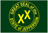 State of Jefferson Official Flag Print Poster Posters