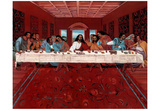 Last Supper Black Jesus Christ religious Print POSTER Pósters