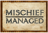 Mischief Managed Movie Print Poster Plakater