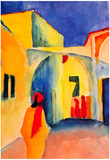 August Macke Look in a Lane Art Print Poster Poster