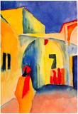 August Macke Look in a Lane Art Print Poster Prints