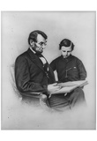 Abraham Lincoln (Reading with Son Tad) Art Poster Print Affiches