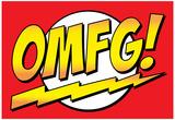 OMFG! Comic Pop-Art Art Print Poster Póster