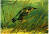 Vincent Van Gogh The Kingfisher Art Print Poster Posters