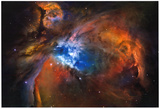 Orion Nebula Brilliant Space Galaxy Photo Poster Lámina