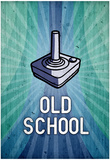 Old School Video Game Poster Print Poster