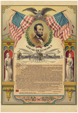 Abraham Lincoln Emancipation Proclamation Historical Document Poster Pôsters