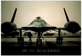 SR-71 Blackbird (On Ground) Art Poster Print Posters