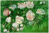 Vincent Van Gogh Still Life Pink Roses Art Print Poster Print