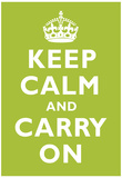 Keep Calm and Carry On Kiwi Art Print Poster 高画質プリント
