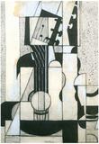 Juan Gris Still Life with Guitar Cubism Art Print Poster Photo